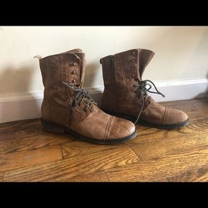 Vintage Women's Leather Boots, Size 8.5, Used